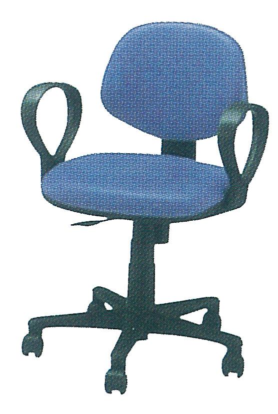 肘付回転椅子