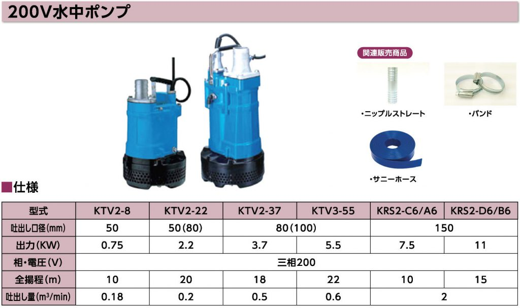 P50_200V水中ポンプ